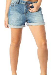 bb5767055 ... Bermuda Jeans Denim Zero Boyfriend Estonada - Dz6190 - Feminino-Azul