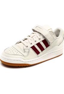 Tênis Couro Adidas Originals Forum Low Branco/Vermelho