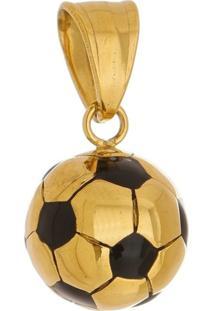 Pingente Bola Tudo Jóias De Aço Inox Modelo Dourada
