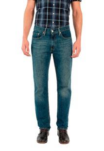 Calça Jeans Levis 514 Straight Lavagem Escura Azul