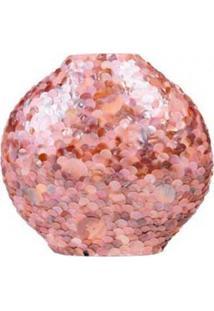 Vaso Decorativo De Madrepérola Marrom 35X37X17 Cm