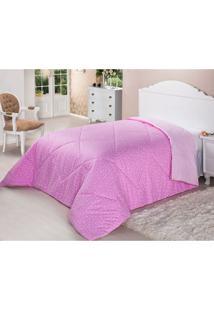 Edredom De Fibra Dupla Face 200 Fios Solteiro 160X220 Pink Deluxe