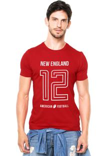 Camiseta Rgx New England American Football Vermelho