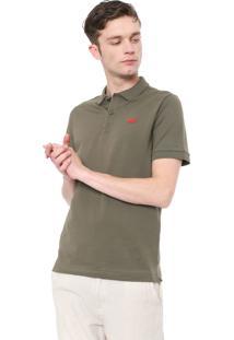Camisa Polo Lacoste L!Ve Reta Logo Verde