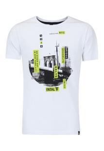 Camiseta Fatal Estampada 17638 - Masculina - Branco