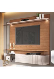 Painel Para Tv Até 70 Polegadas Atalaia 3 Portas Natura Real/Off White - Colibri Móveis