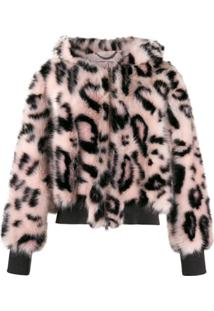 Stella Mccartney Jaqueta Bomber Com Estampa Animal Print - Preto
