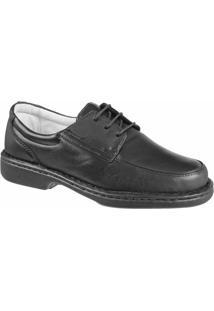 Sapato Confort Ranster De Amarrar - Masculino-Preto