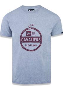 T-Shirt New Era Regular Cleveland Cavaliers Mescla Cinza