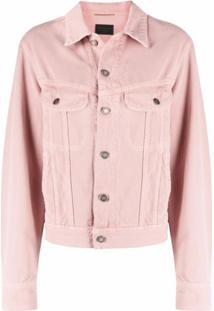Saint Laurent Ozone Denim Jacket - Rosa
