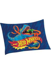 Fronha Hot Wheelsâ®- Azul Escuro & Vermelha- 70X50Cm