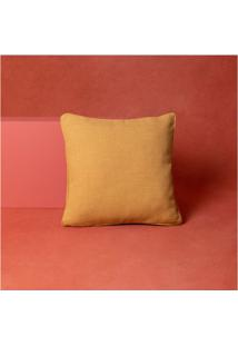 Capa De Almofada Lisa Doha 45X45 Cor: Amarelo - Tamanho: Único