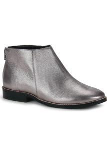 Ankle Boots Feminina Desmond - Prata Velho