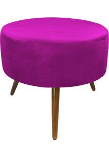 Puff Decorativo Sofia Redondo Suede Pink - D'Rossi
