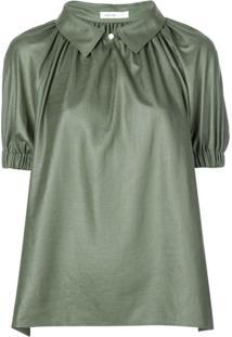 Adeam Blusa Com Drapeado - Verde