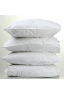 Travesseiro Percal Teka Oasis Profiline 50Cm X 70Cm - Branco/Multicolorido - Dafiti