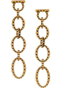 Salvatore Ferragamo Drop Chain Earrings - Dourado