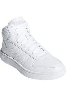 95fc217e847 ... Tênis Cano Alto Adidas Hoops 2.0 Mid Feminino - Feminino-Branco