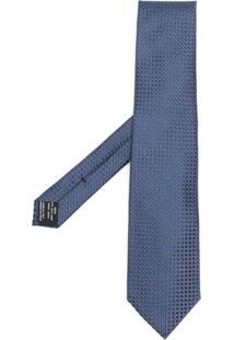 Tom Ford Gravata Xadrez - Azul