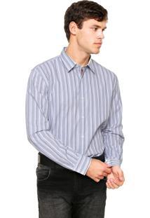 Camisa Perry Ellis Listras Cinza