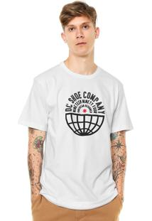 Camiseta Dc Shoes Global Team Tall Fit Branca