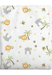 Cobertor Incomfral Em Algodão Para Bebê 70 X 90Cm Verde Claro