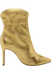 Bota Salto Fino Golden   Schutz
