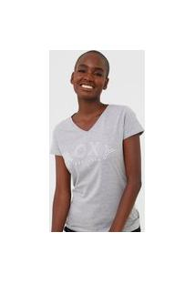 Camiseta Roxy Go With You Cinza