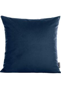 Capa De Almofada Aveludada Velvet- Azul Marinho- 42Xstm Home