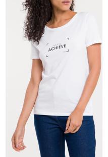 Blusa Ckj Fem M/C Believe Achieve - Branco 2 - P