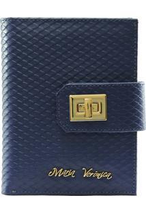 Carteira Maria Verônica 2002 Snake Azul