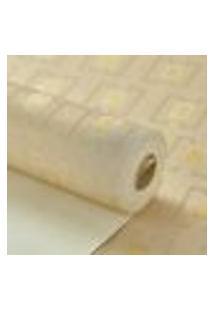 Papel De Parede Vinilico Lavavel Creme Detalhes Amarelo