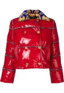 Versace Jaqueta Matelassê Cropped - Vermelho
