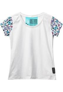 Camiseta Baby Look Feminina Algodão Estampa Animal Estilo - Feminino-Branco