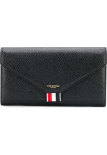 Thom Browne Carteira Continental Envelope - Preto