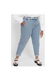 Calça Jeans Forever 21 Plus Skinny Clochard Azul