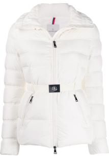 Moncler Alouette Belted Puffer Jacket - Branco