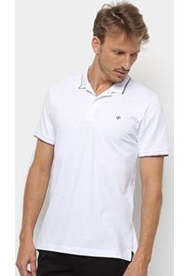 Camisa Polo Forum Masculina - Masculino-Branco