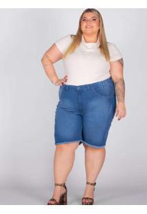 Bermuda Desfiada Almaria Plus Size Shyros Jeans Az