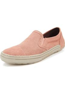 Tênis Casual Side Walk Tênis Slip On Fly Rosa