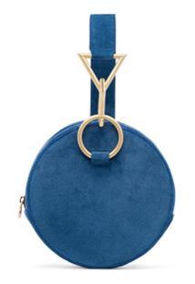 Tara Zadeh Bolsa Clutch De Couro - Azul