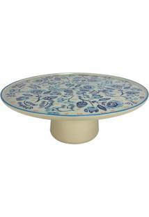 Prato Para Aperitivo Ou Bolo Em Ceramica - Incolor - Dafiti