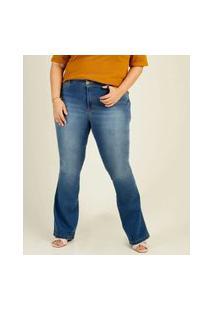 Calça Plus Size Feminina Jeans Flare Biotipo