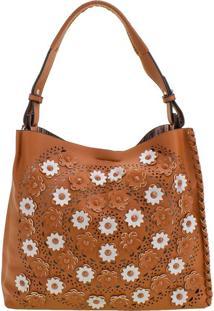 Bolsa Feminina Arara Dourada - Hs031 Caramelo