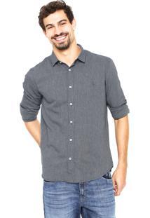 Camisa Reserva Textura Azul