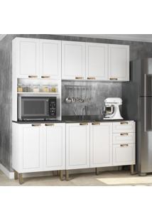 Cozinha Completa 3 Peã§As Americana Multimã³Veis 5907 Branco - Branco/Incolor - Dafiti
