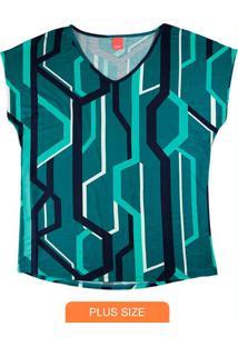 Blusa Verde Mullet Gráfica
