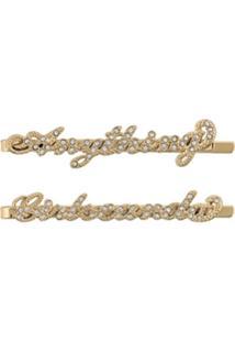 Zadig&Voltaire Broche Com Cristais - Dourado