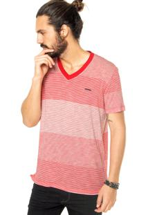 Camiseta Sommer Listras Vermelha