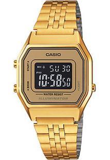 Relógio Feminino Casio Vintage Digital - Feminino-Dourado